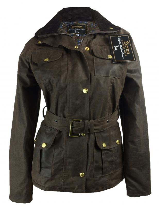 Terra Australia Ladies Wax Jacket belted